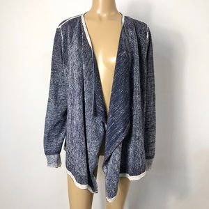 Chicos women's cotton blend open front cardigan
